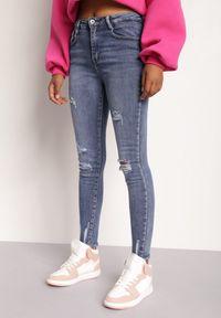 Renee - Niebieskie Jeansy Skinny Rozis. Kolor: niebieski