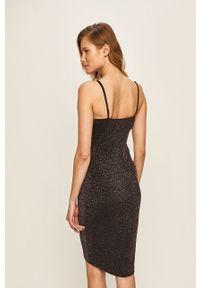 Czarna sukienka Haily's na ramiączkach, dopasowana, mini