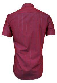 Niebieska elegancka koszula Rey Jay krótka, w kratkę