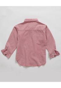 ONETEASPOON KIDS - Koszula z denimu różowa 5-14 lat. Kolor: różowy, fioletowy, wielokolorowy. Materiał: denim. Długość rękawa: długi rękaw. Długość: długie. Sezon: lato. Styl: elegancki