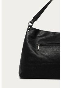 Czarna shopperka Answear Lab duża, na ramię