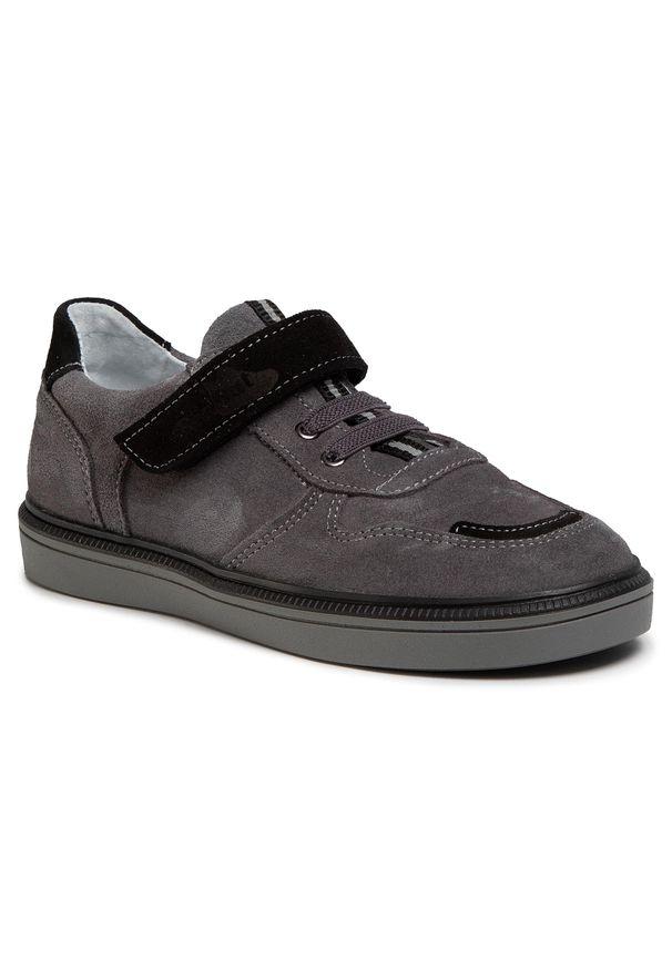 RenBut - Sneakersy RENBUT - 33-4416 Popiel. Okazja: na spacer, na co dzień. Zapięcie: rzepy. Kolor: szary. Materiał: skóra, zamsz. Szerokość cholewki: normalna. Styl: casual