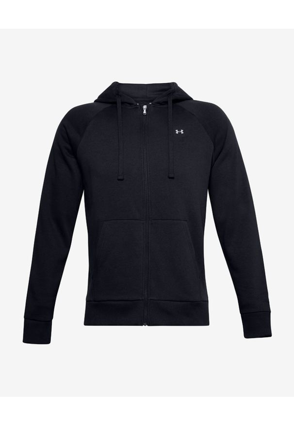 Czarna bluza Under Armour w kolorowe wzory, z kapturem, długa