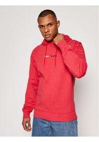 Tommy Jeans Bluza Tjm Straight Logo DM0DM10190 Czerwony Regular Fit. Kolor: czerwony