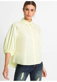 Bluzka oversize bonprix cytrynowy sorbetowy. Kolor: żółty