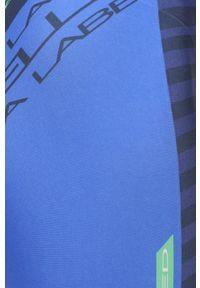 LABELLAMAFIA - LaBellaMafia - Legginsy. Kolor: niebieski. Materiał: dzianina