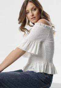 Biała bluzka hiszpanka Born2be