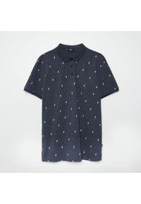 Cropp - Koszulka polo z haftem - Szary. Typ kołnierza: polo. Kolor: szary. Wzór: haft #1