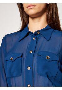 Niebieska sukienka koszulowa Marciano Guess