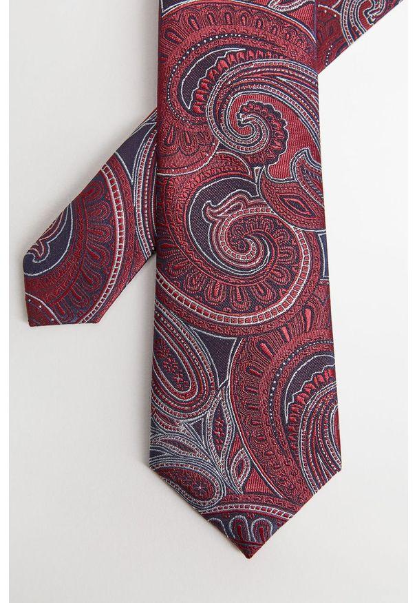 Brązowy krawat Mango Man paisley
