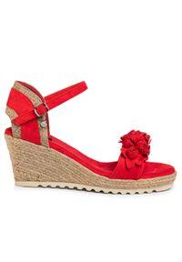 Czerwone sandały Xti casualowe, na co dzień