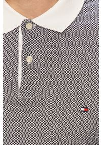 Czarna koszulka polo TOMMY HILFIGER polo, krótka