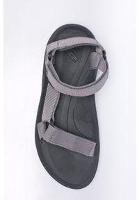 Szare sandały Teva z okrągłym noskiem, na rzepy