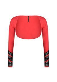 Sweter Guess krótki, z długim rękawem, z aplikacjami