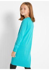 Niebieska sukienka bonprix w prążki