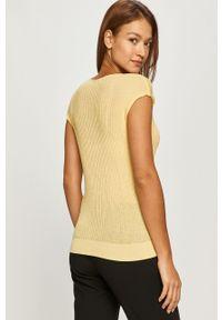 Żółta bluzka Morgan z krótkim rękawem, na co dzień