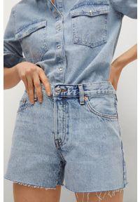 mango - Mango - Szorty jeansowe Hailey. Okazja: na co dzień. Kolor: fioletowy. Materiał: jeans. Styl: casual