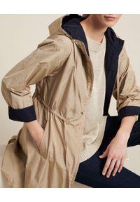 Luisa Spagnoli - LUISA SPAGNOLI - Dwustronna parka Vegan. Okazja: na co dzień. Typ kołnierza: kaptur. Kolor: niebieski. Materiał: jeans, materiał. Styl: casual