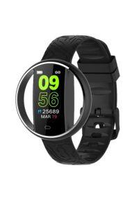 Czarny zegarek GARETT smartwatch, sportowy