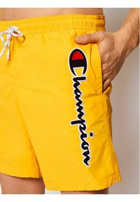 Champion Szorty kąpielowe Satin Script Logo Board 214428 Żółty Board Fit. Kolor: żółty #3