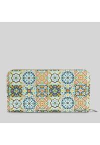 Portfel damski wegański Mumka Mozaika. Wzór: kolorowy