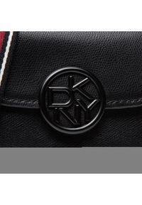 Torebka DKNY - Leina Flap Cbody R12EDO38 Blk/Black 2 BBL. Kolor: czarny. Materiał: skórzane