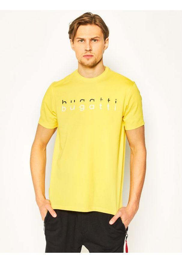 Bugatti T-Shirt 8350 55062 Żółty Regular Fit. Kolor: żółty
