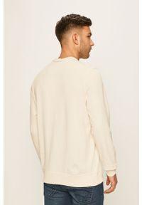 Kremowa bluza nierozpinana Izod na co dzień, z nadrukiem, casualowa, z okrągłym kołnierzem