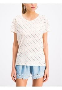 Pepe Jeans T-Shirt PL504093 Beżowy Regular Fit. Kolor: beżowy