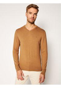 Brązowy sweter klasyczny TOMMY HILFIGER