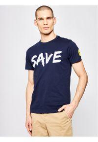 Niebieski t-shirt Save The Duck
