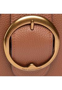 Polo Ralph Lauren - Torebka POLO RALPH LAUREN - Belt Saddle 428751521004 Brown. Kolor: brązowy. Materiał: skórzane. Rodzaj torebki: na ramię
