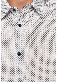 Biała koszula medicine długa, na co dzień, casualowa, z klasycznym kołnierzykiem