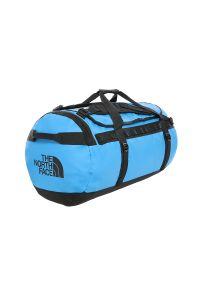 Niebieska torba sportowa The North Face w paski