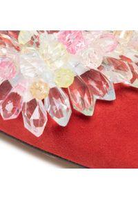 R.Polański - Sandały R.POLAŃSKI - 1015 Brick Zamsz. Kolor: czerwony. Materiał: skóra, zamsz