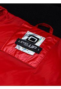 Czerwona kurtka Ombre Clothing z aplikacjami, na zimę