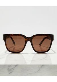 Balenciaga - BALENCIAGA - Brązowe okulary przeciwsłoneczne. Kolor: brązowy