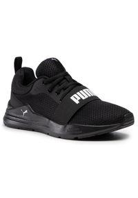 Buty PUMA - Wired Run Jr 374214 01 Puma Black/Puma White. Okazja: na uczelnię, na spacer. Kolor: czarny. Materiał: materiał. Szerokość cholewki: normalna