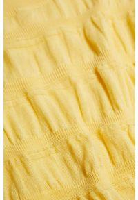 mango - Mango - Sweter LEAF. Okazja: na co dzień. Kolor: żółty. Materiał: dzianina. Długość rękawa: długi rękaw. Długość: długie. Styl: casual
