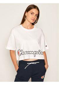 Biały t-shirt Champion z nadrukiem