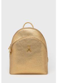 Patrizia Pepe - Plecak skórzany. Kolor: złoty. Materiał: skóra