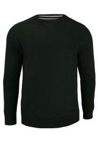 Czarny sweter Brave Soul z okrągłym kołnierzem, klasyczny