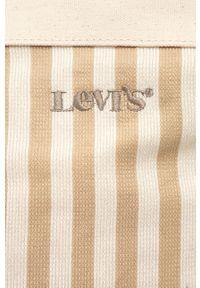 Levi's® - Levi's - Torebka. Kolor: beżowy. Styl: biznesowy. Rodzaj torebki: na ramię