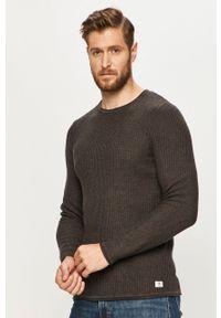 Szary sweter Premium by Jack&Jones na co dzień, casualowy, z długim rękawem, długi