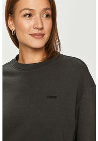 Czarna bluza Levi's® gładkie, długa, biznesowa