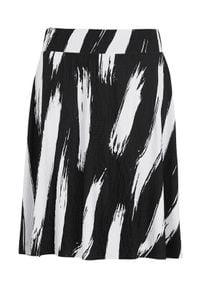 Cellbes Gnieciona spódnica złamana biel Czarny we wzory female biały/czarny/ze wzorem 54/56. Okazja: na co dzień. Kolor: czarny, biały, wielokolorowy. Materiał: jersey, guma. Styl: casual