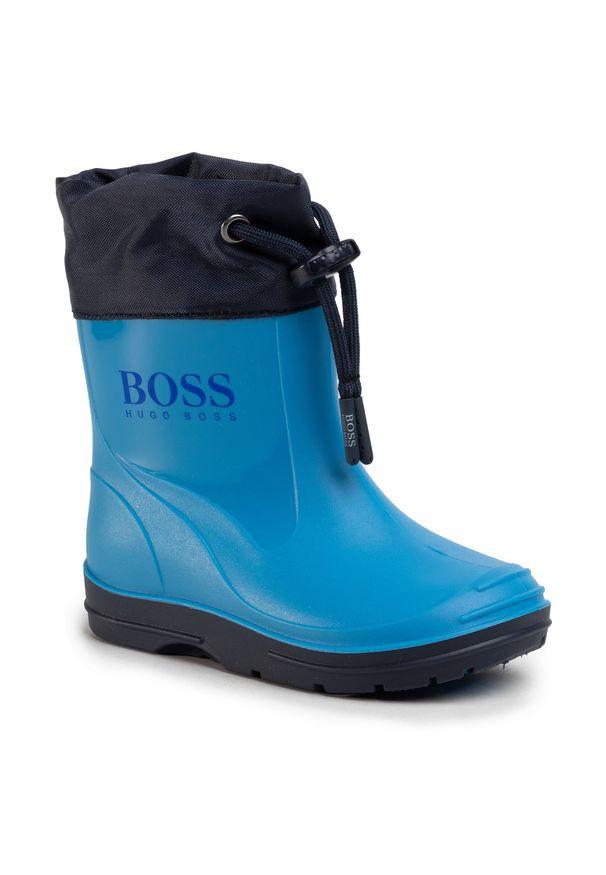Niebieskie kalosze BOSS klasyczne, z cholewką