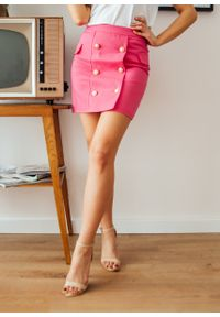 Różowa spódnica Fanaberia.com na lato, casualowa, na imprezę