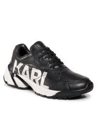 Czarne półbuty Karl Lagerfeld z cholewką, klasyczne