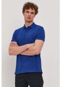 BOSS - Boss - Polo Athleisure. Typ kołnierza: polo. Kolor: niebieski. Materiał: dzianina. Długość: krótkie. Wzór: gładki